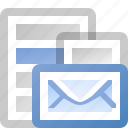 email, menu, message icon