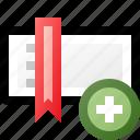 add, bookmark, toolbar icon