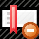 bookmark, delete, toolbar icon