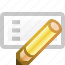 edit, toolbar icon