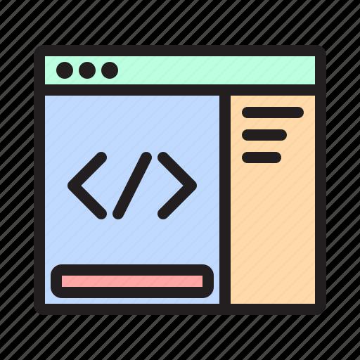 coding, css, developer, development, html, inspect element, web icon