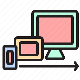 monitor, phone, responsive, responsive web design, rwd, tablet icon