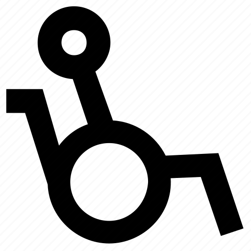 disable, handicap, patient, wheelchair icon