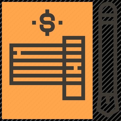 asset, finance, invoice, loan, pawnshop, tax icon