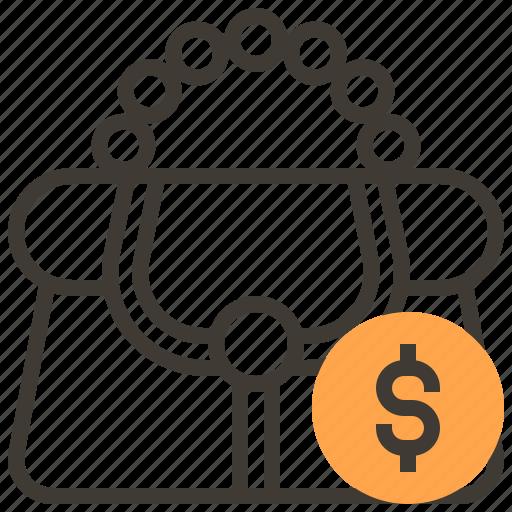 asset, bag, cash, finance, loan, money, pawnshop icon