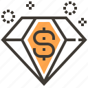 asset, currency, diamond, finance, loan, money, pawnshop icon