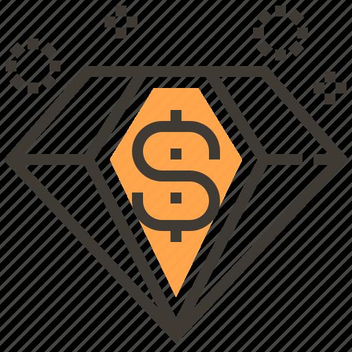 asset, currency, diamond, finance, loan, money, pawnshop icon
