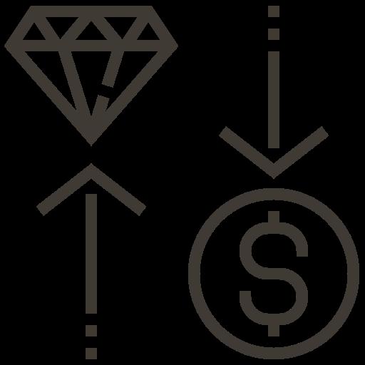 asset, cash, diamond, exchange, loan, money, pawnshop icon