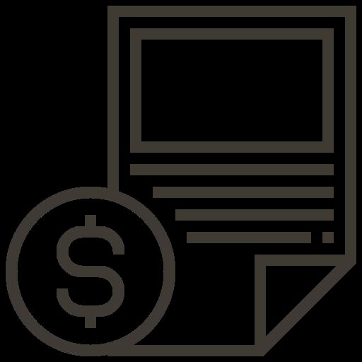asset, document, finance, loan, money, paper, pawnshop icon