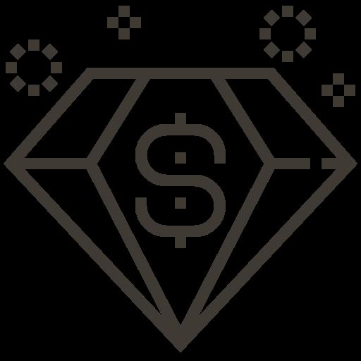 asset, diamond, jewel, jewelry, loan, pawnshop icon
