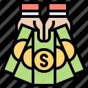 bank, cash, financial, loan, money icon