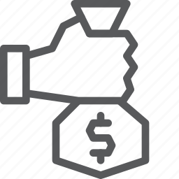 bag, finance, give, hand, money, payment, receive, salary icon