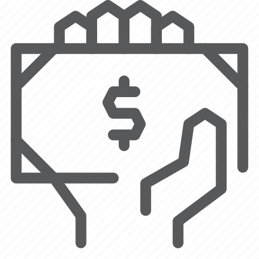 bank, cash, finance, give, hand, money, note, payment icon