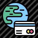 card, credit, debit, global, international, money, payment icon