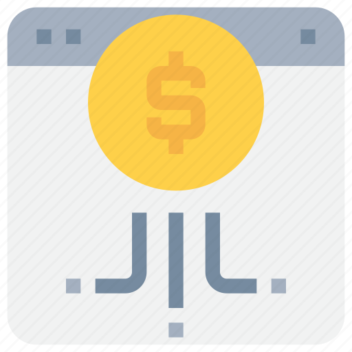 bank, banking, money, online, payment, website icon