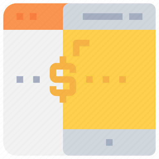 bank, banking, mobile, money, payment, smartphone icon