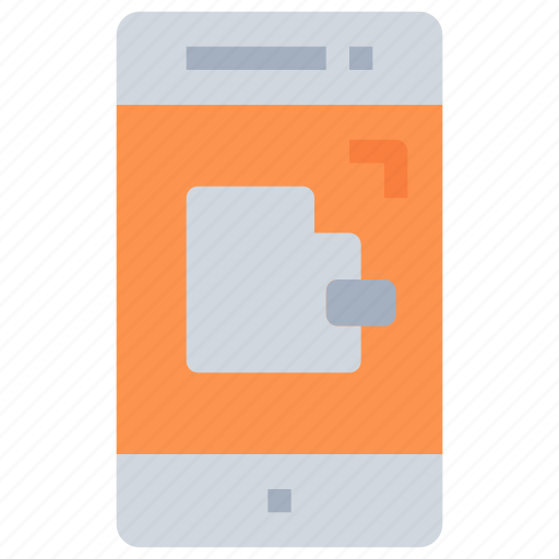 bank, business, online, payment, smartphone, wallet icon