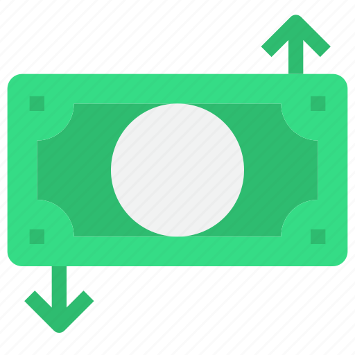 arrow, bank, business, money, payment icon