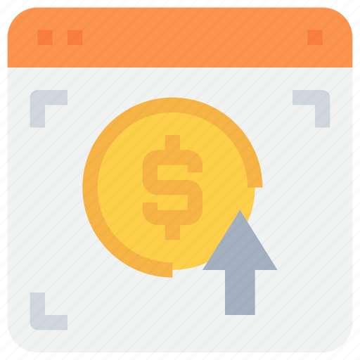 bank, browser, click, money, pay, payment, website icon