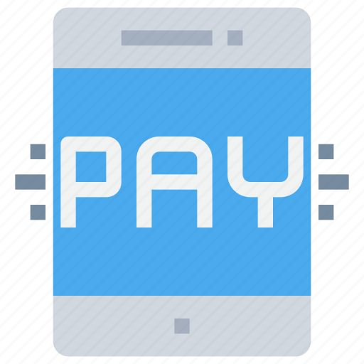bank, mobile, pay, payment, shopping, smartphone icon