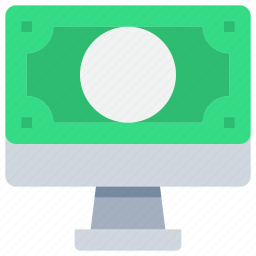 bank, business, computer, money, online, payment icon