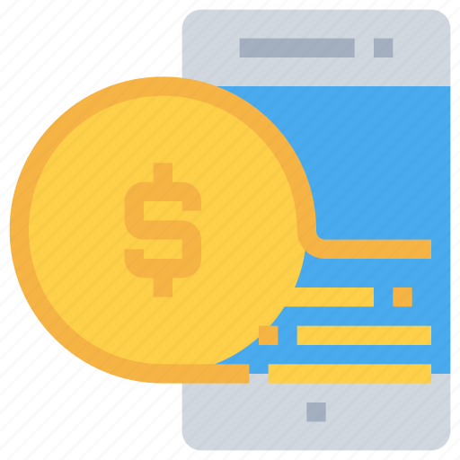 bank, mobile, money, payment, smartphone icon