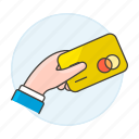 1, card, credit, hand, payment icon