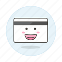 1, card, credit, magnetic, payment, smiley, stripe icon
