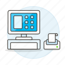 cashier, closed, payment, point, pos, processing, sale icon