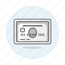 card, credit, payment, silver icon