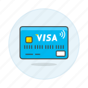 1, broken, card, credit, payment, visa icon