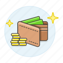 cash, coin, dollar, man, money, payment, star, traditional, wallet