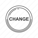 change, finance, money, payment icon