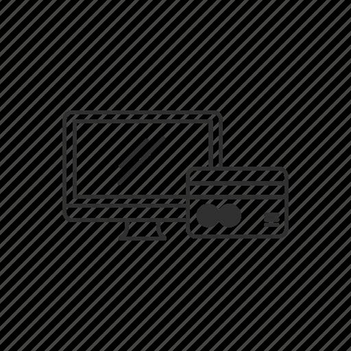 card, desktop, online, payment icon