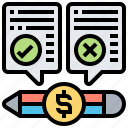 accounting, billing, error, mistake, problem icon