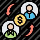 banking, digital, lending, p2p, peer icon