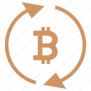 b, bitcoin, blockchain, exchange, money, value icon