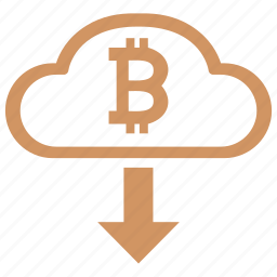 bitcoin, cashout, cloud, download icon
