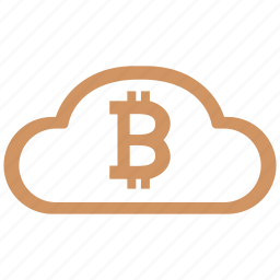 bank, bitcoin, blockchain, cloud, value icon