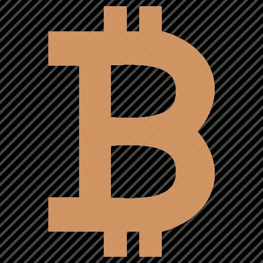 b, bitcoin, blockchain, letter, money, value, virtual icon