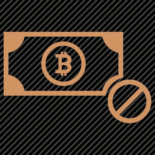 access, account, ban, bitcoin, cancel, money, stop icon