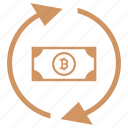 b, bitcoin, cash, exchange, money, value icon