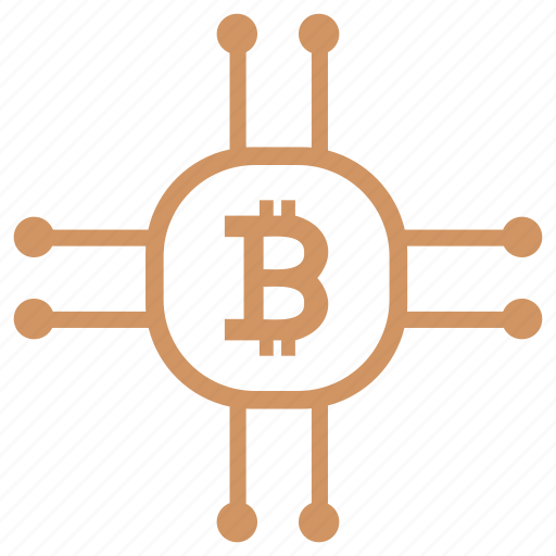 b, bitcoin, chip, chipset, money, value icon