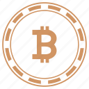 b, bitcoin, coin, money, round, value icon