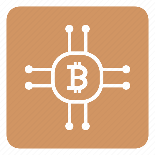 b, bitcoin, chip, chipset, cpu, money, value icon