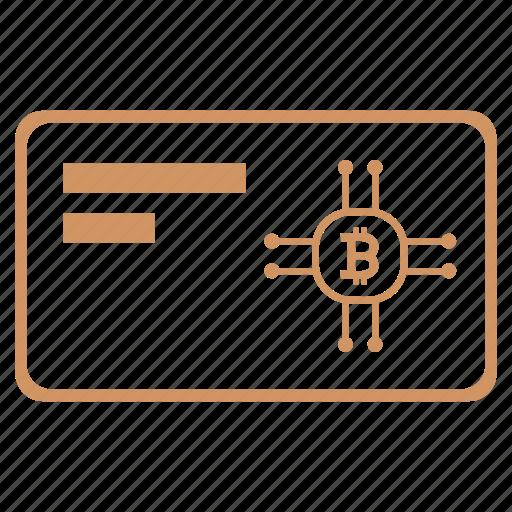 bitcoin, card, credit, wallet icon