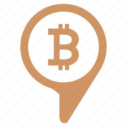 bitcoin, geo, money, poi, point, pointer icon