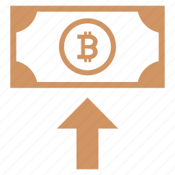 bitcoin, earnings, income, insert, money, value icon