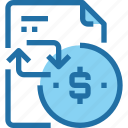 banking, business, document, file, money, payment icon