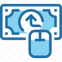 arrow, banking, business, money, online, payment icon